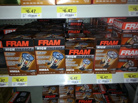Fram High Mileage Filters