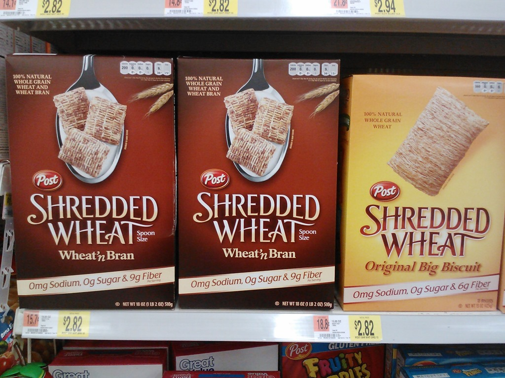 What Entertains Me: Post Shredded Wheat Just $1 82 a Box at Walmart!