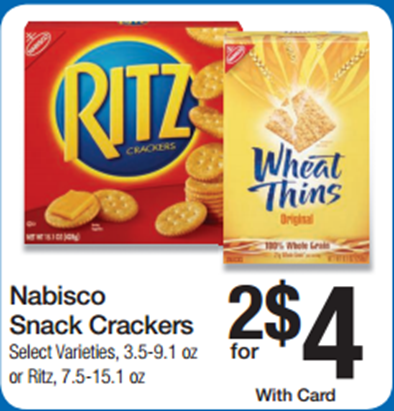 Walmart Price Match Deal: Ritz Crackers Just $1.25 a Box!