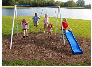 Flexible Flyer Fun First Metal Swing Set Only $69 Shipped! (reg. $129.97)