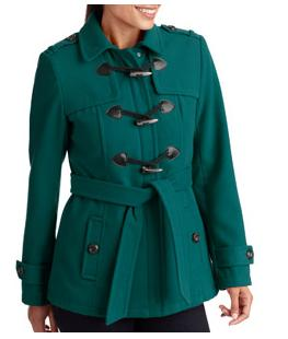 Super Cute George Women's Plus-Size Belted Faux Wool Toggle Coat Only $31! (reg. $44.86)