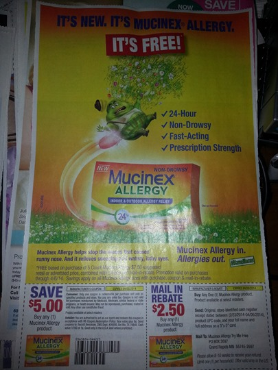 FREE Mucinex Allergy
