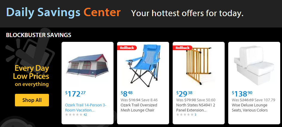Post image for Walmart Daily Savings Center Deal: Ozark Trail 14 Person Tent for $172.27!