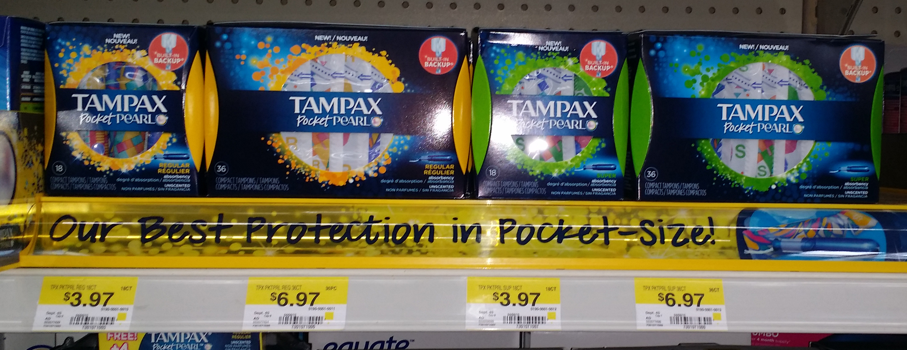 Thumbnail image for Tampax Pearl Products Just $2.72 at Walmart!