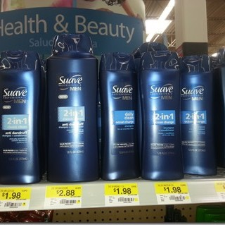 FREE Suave Men's Shampoo with Overage At Walmart!