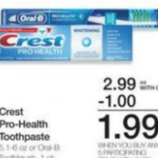 FREE Crest Toothpaste With Overage at Walmart!