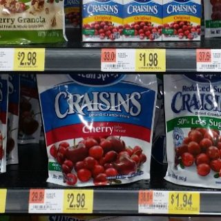 Ocean Spray Craisins Just $0.98 At Walmart!