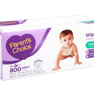 FREE 800 Pack of Parent's Choice Diaper Wipes!
