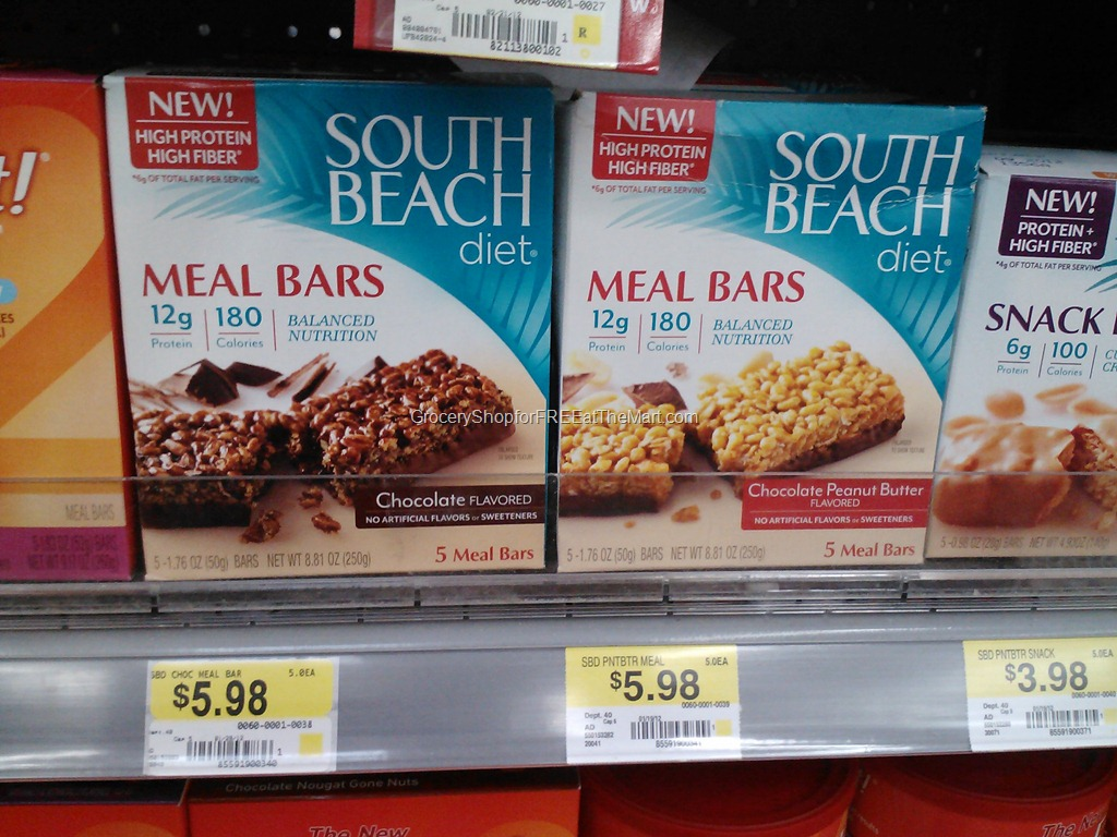 South Beach Meal Replacement Bars