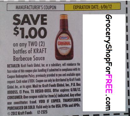 Kraft Barbecue Sauce Coupon