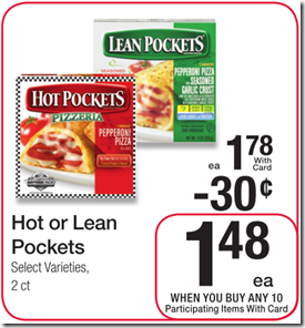 Hot or Lean Pockets Just $1.00!