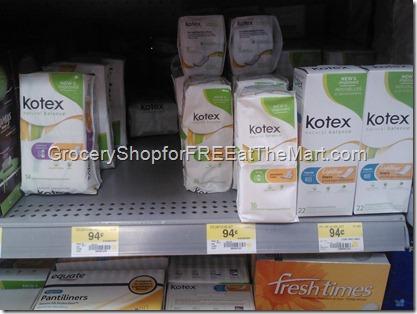 Kotex Natural Balance