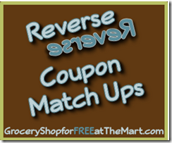 Current Walmart Reverse Coupon Matchups
