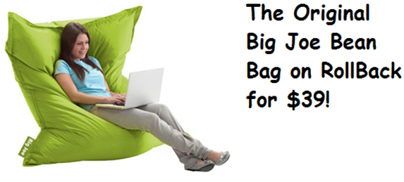 Walmart Online Deal Big Joe Bean Bag Chair On Rollback