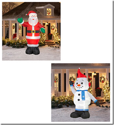 walmart value of the day inflatable christmas lawn ornaments - Walmart Christmas Lawn Decorations