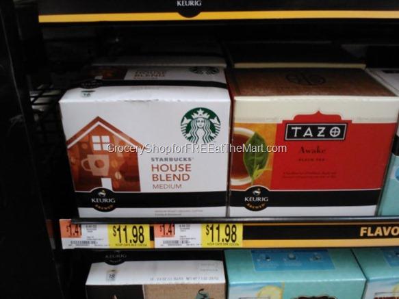 Starbucks and Tazo Tea K-Cups at Walmart