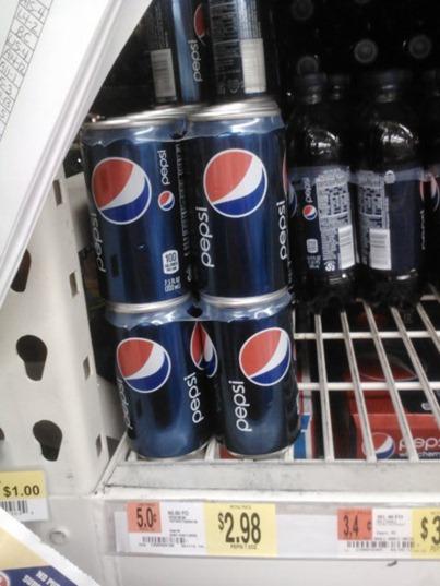 Pepsi Mini-cans at Walmart