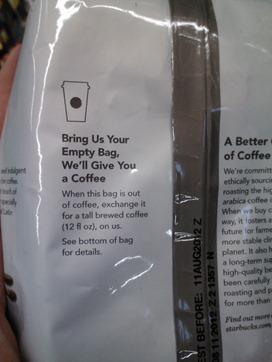 Starbucks Coffee Back 3-27-12