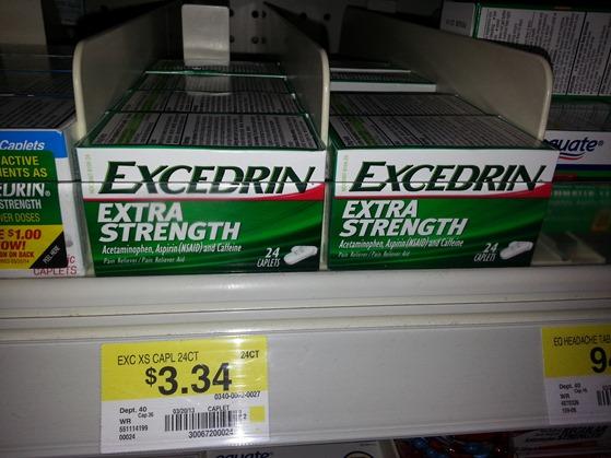 Excedrin 24ct at Walmart