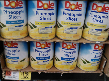 Dole Canned Pineapple At Walmart