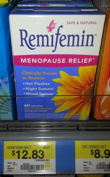 Remifemin Menopause Relief at Walmart