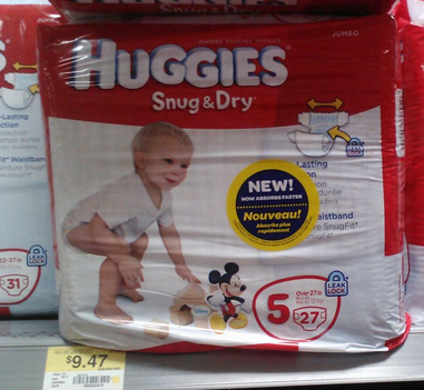 Walmart Coupon Matchup:  Huggies Snug & Dry $64.7