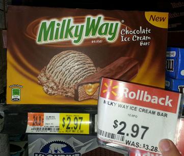 Milky Way Ice Cream Bars Just $.97