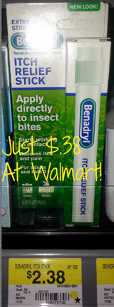 Walmart Coupon Matchup:  Benadryl Itch Relief Just $.38