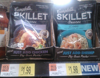 Campbell's Skillet Sauces Just $.98