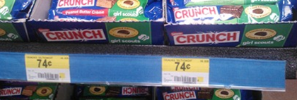 Walmart Coupon Matchup: Nestle Crunch Girl Scout Bars Just $.49!