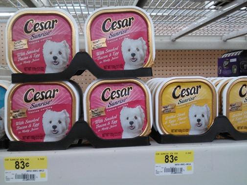 Cesar Pet Food at Walmart