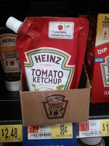 Heinz Ketchup pouches