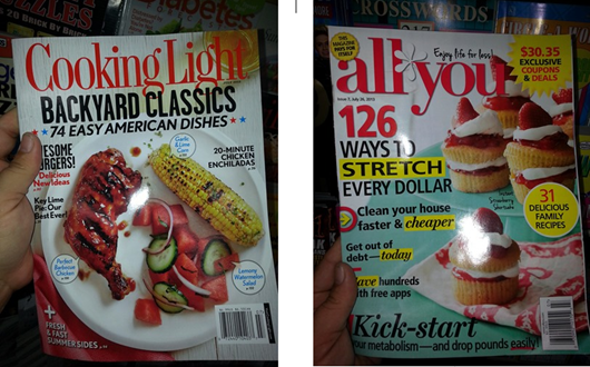 All You and Cooking Light Magazine at Walmart