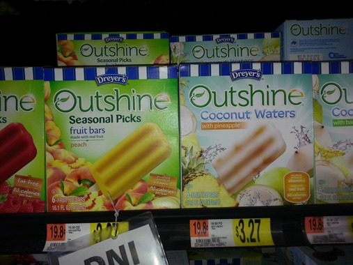 Dreyer's Outshine Bars Just $2.27 at Walmart!
