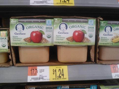 Gerber Organic 2nd Foods Cups