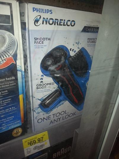 Philips Norelco Click & Style razor