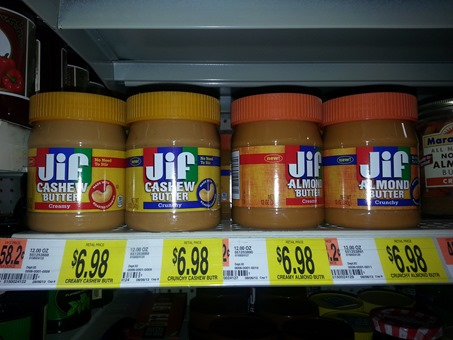 Jif Cashew or Almond Butter