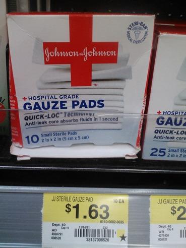 Johnson & Johnson Gauze Pads