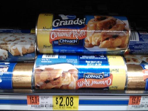Pillsbury grands sweet rolls