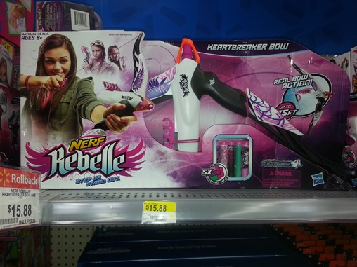 Nerf Rebelle Heartbreaker Bow at Walmart