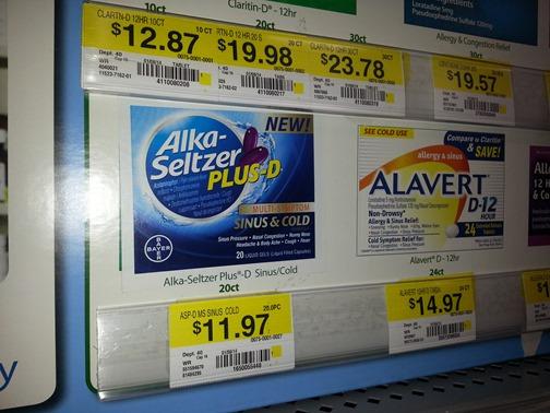 Alka Seltzer Plus D