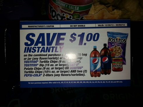 Super Bowl Snack Coupon
