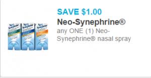 Neo-Synephrine Cold & Sinus Medicine Just $2.97!