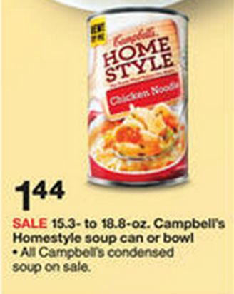 Campbell's Homestyle soup at Target