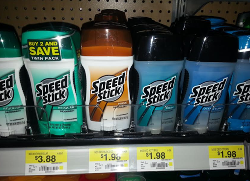 Walmart Coupon Matchup:  Speed Stick Just $0.50