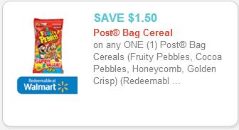 Post Bagged Cereal Printable Coupon
