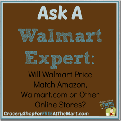 Will Walmart price match online retailers?