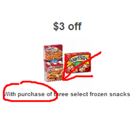 "Target Coupon ""with purchase of"""