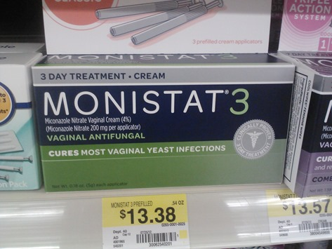 photograph about Monistat Printable Coupons referred to as Monistat 3 for $10.38 at Walmart!