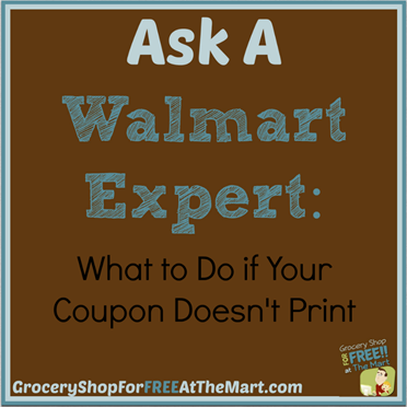 Ask a Walmart Expert: What To Do if Your Coupon Doesn't Print